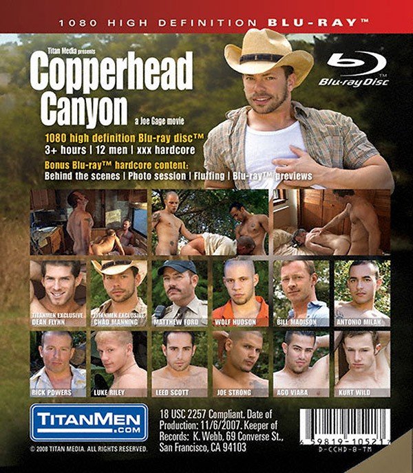 Copperhead Canyon BLU-RAY - Back
