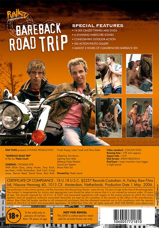 Bareback Road Trip DVD - Back