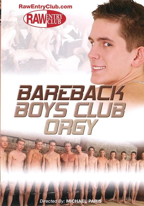 Bareback Boys Club Orgy DVD - Front