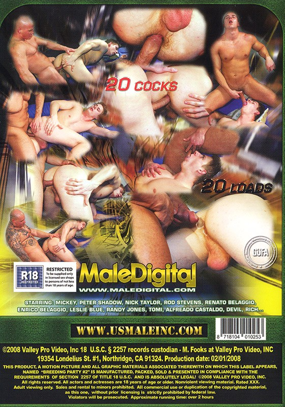 Breeding Party 2 DVD - Back