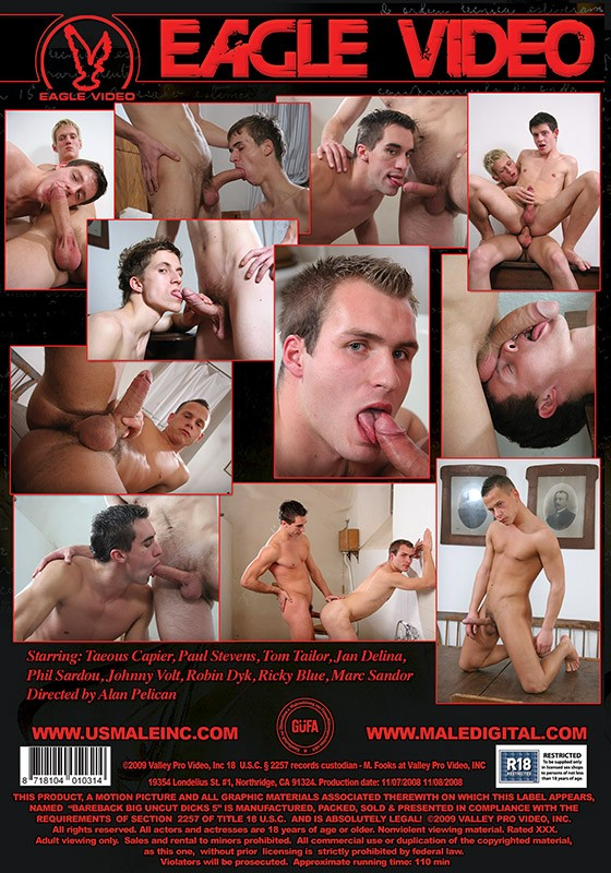 Bareback Big Uncut Dicks 5 DVD - Back