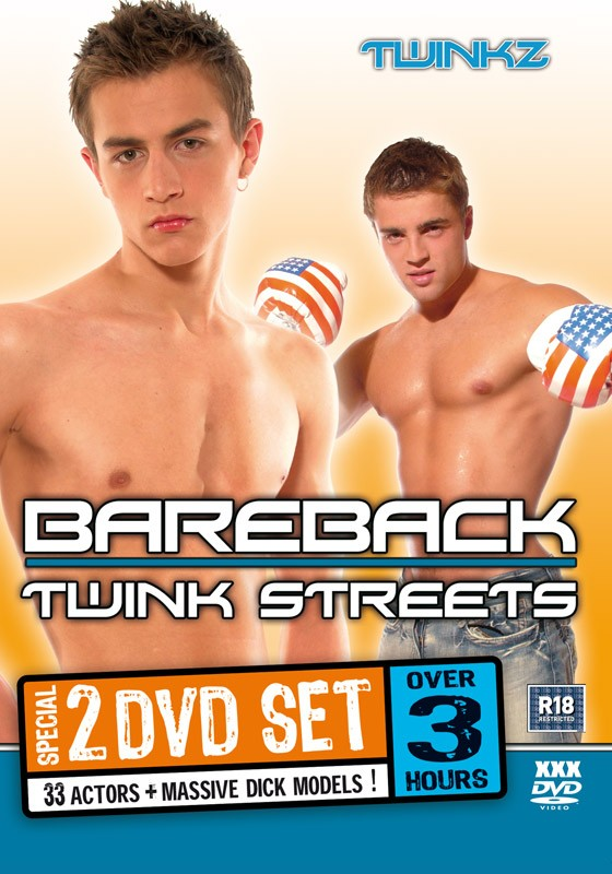 Bareback Twink Streets 2DVD Box Set - Front