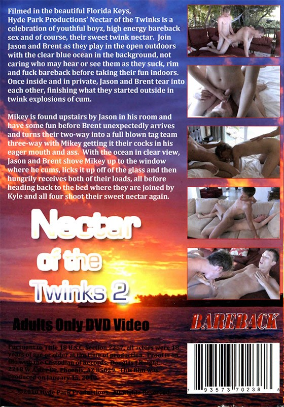 Nectar of the Twinks 2 DVD - Back
