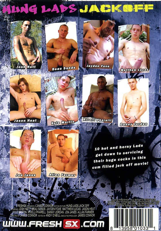 Hung Lads Jack Off DVD - Back