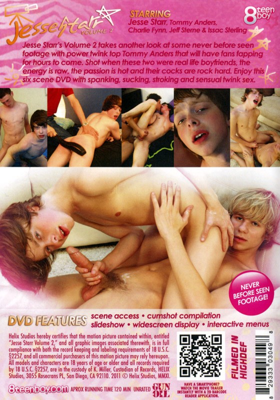 Jesse Starr volume 2 DVD - Back