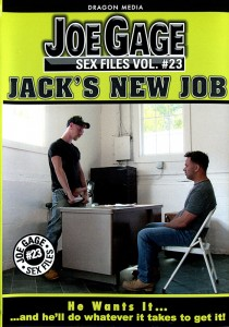 Joe Gage Sex Files vol. #23 Jack's New Job DVD (S)